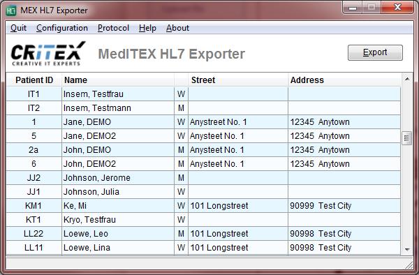HL7 Exporter - MedITEX - Wiki